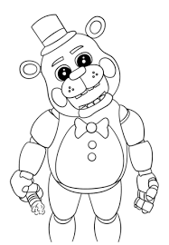 nights freddy u0027s coloring pages free coloring pages