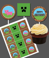 minecraft edible cake topper minecraft birthday cake toppers wtag info