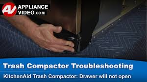 Built In Trash Compactor by Trash Compactor Drawer Will Not Open Stuck In Closed Position
