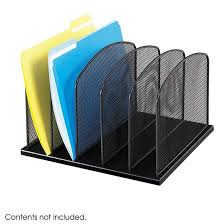 File Desk Organizer Safco Products Onyx 5 File Desk Organizer 3256bl Desk