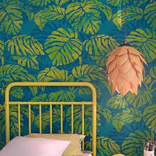 kids room stencil tropical design wall stencil nursery decor