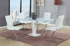 stylish rectangular frosted glass top 5 pc dinette set chicago