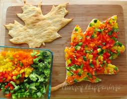 vegetable dishes for thanksgiving veggie pizza leaves fall or thanksgiving appetizer