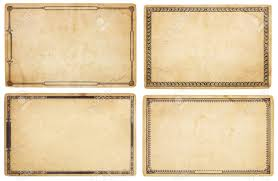 blank cards a set of four heavily aged blank cards with stains creases