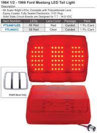tail light lens assembly ford mustang lights and light assemblies