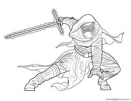 star wars u2013 kylo ren coloring page coloring page central