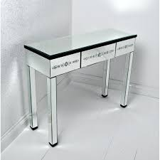 Corner Vanity Table Rectangle Glass Corner Vanity Table With 3 Drawers And High Legs