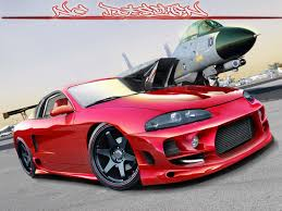 mitsubishi eclipse 1997 mitsubishi eclipse red by nc design on deviantart