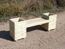 Garden Bench With Planters Wooden Benches Garden Sheds Planters Playhouses Vegetable