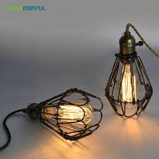 industrial cage light bulb cover fashion vintage wire l cage diy lshade industrial l guard