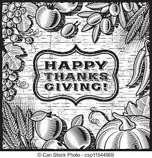 vector clip of pumpkin harvest black and white retro pumpkin