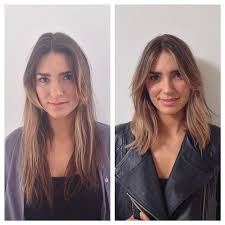 before and after picuters of long to short hair hair cut short before and after