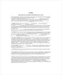 simple lease template sample lease agreement free download