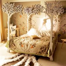 Forest Canopy Bed Astonishing Decoration In Your Enchanted Forest Bedroom Interior