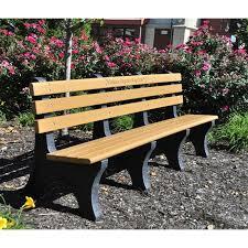Commercial Outdoor Bench Jayhawk Plastics Comfort Park Avenue Recycled Plastic Commercial