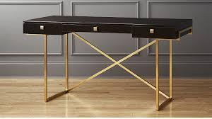 Black Desk Office Avalon Black High Gloss Desk In Office Furniture Reviews Cb2
