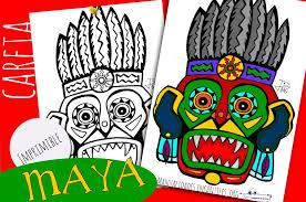 imagenes mayas para imprimir máscara maya 1 manualidades infantiles
