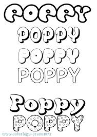 Coloriage du prénom Poppy  à Imprimer ou Télécharger facilement