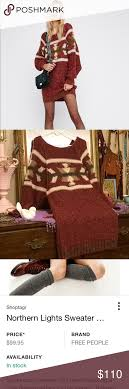 Free Northern Lights Sweater In Free Northern Lights Sweater Dress Nwot Northern Lights