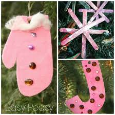 Decoration For Christmas Homemade by 15 Easy Gorgeous Christmas Ornaments For Kids Happy Hooligans
