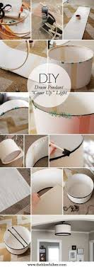Diy Drum Pendant Light How To Make Your Own Hanging Drum Light Has A Link For