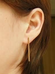 modern gold stud earrings gold bar stud earrings by hook matter 48 jewelry