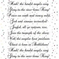 hark the herald angels sing christmas song fabric bohobear