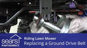 replacing a ground drive belt on a riding lawn mower youtube