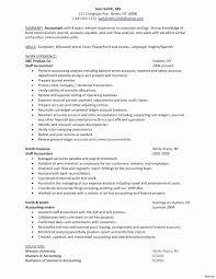accounting resume template elegant accounting resume sles canada