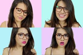 makeup tips for girls with glasses youtube