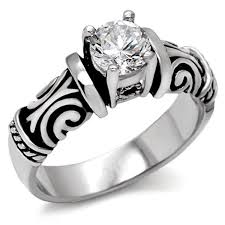 celtic engagement rings middle tribal ring celtic ring cubic