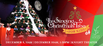 singing christmas tree the singing christmas tree for kids blumenthal performing arts