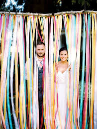 photo booth backdrop ribbon backdrop diy wedding photo booth ideas popsugar smart