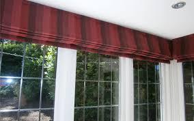 striped red roman blind bay window surrey blinds u0026 shutters
