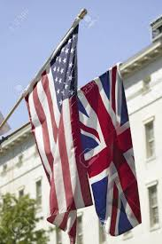 Flag Hanging American Flag Hanging With Union Jack British Flag Next To The