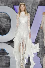 high low wedding dress with sleeves 20 high low wedding dresses from bridal fashion week brides