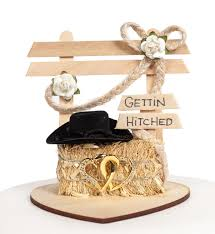 country cake topper wedding collectibles gettin hitched western wedding