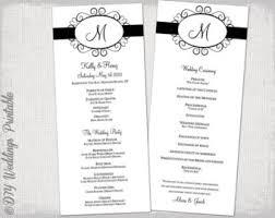 wedding program template brown chevrons wedding