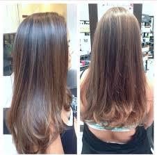 foil highlights for brown hair subtle ombré foil highlights and cut by jamie on virgin hair