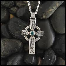 cross stone necklace images Celtic cross jewelry in sterling silver and gold walker jpg