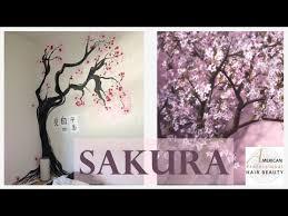 d馗oration japonaise chambre idée déco chambre peindre un cerisier japonais