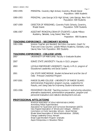 Resume For Assistant Principal Sup Resumes