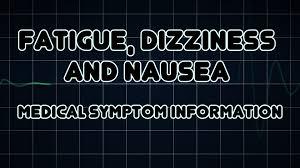 Light Headed Dizzy Nausea Fatigue Dizziness And Nausea Medical Symptom Youtube