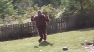 Bigfoot Halloween Costume Kids Soldier Surprise Video Airman Dressed Bigfoot Scares Kids