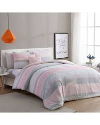 Pink And Grey Comforter Set Amazing Holiday Shopping Savings On Vcny Home Stockholm 4 Piece