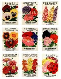 flower seed packets vintage flower seed packets digital collage sheet