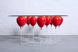 Table Up This Whimsical Table By Duffy London Is Held Up By Balloons