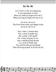 do re mi lyrics printout midi and video