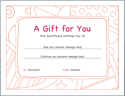 gift voucher samples funny gift voucher format template example with orange doodle