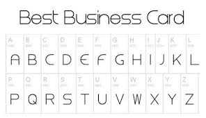 Good Business Card Font Best Of Collection Of Best Fonts For Business Cards Business